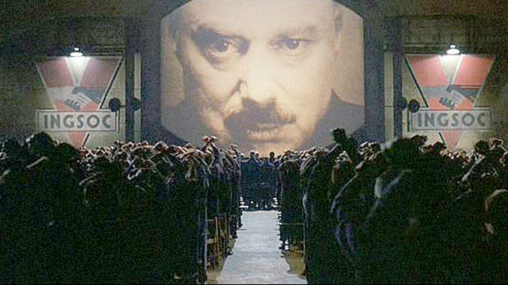 Image from 1984 movie in Why George Orwell Matters blog