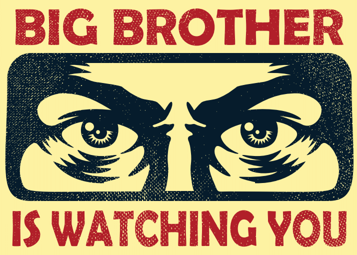 Image of Big Brother in Why George Orwell Matters blog post