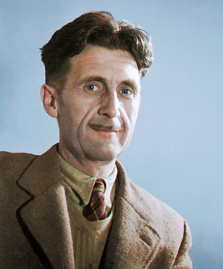 Colour image of George Orwell in the Why Orwell Matters blog